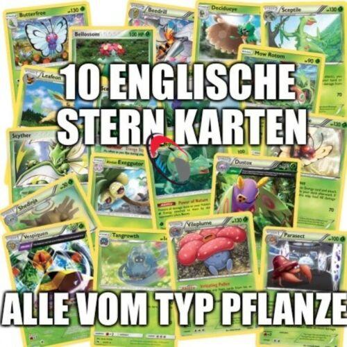 deutsch Sparangebot 10 verschiedene Normal Pokemon Stern Karten