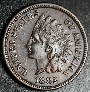 1882-INDIAN-HEAD-CENT-With-LIBERTY-amp-DIAMONDS-XF-EF