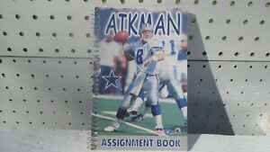 46772853d Details about Troy Aikman Dallas Cowboys spiral Notebook - NEW
