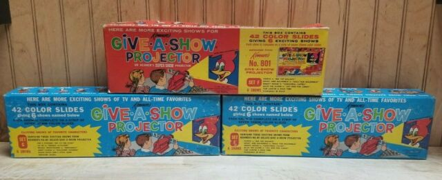 Kenner's Give A Show Projector Sets F,G and F  Woody Woodpecker AND MUCH MORE