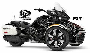 Can-Am-Spyder-F3T-Decal-Graphic-Wrap-kit-034-Black-Widow-034