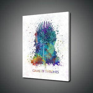 Details About Game Of Thrones Watercolour Painting Style Canvas Print Wall Art Picture Photo