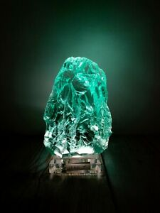 Andara Crystal Rough New Surface Turquoise 1560gr with base, lamp & dimmer