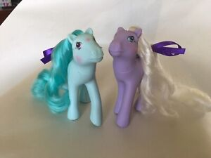 My Little Pony Vintage G1 Flutter Ponies Forget-Me-Not & Peach Blossom