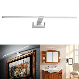 850lm kaltwei led schwenkbar spiegelleuchte bildleuchte lampe wand badleuchte ebay. Black Bedroom Furniture Sets. Home Design Ideas