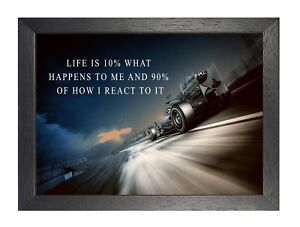 9 Formula 1 Racing Artwork Motivation Picture Inspirational Cars Quote Poster