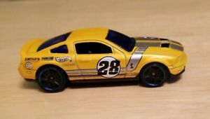 Vintage Yellow Sports Car Mattel Hot Wheels Zamora Racing Team Diecast Toy #28