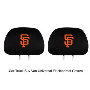 New-Team-ProMark-MLB-San-Francisco-Giants-Head-Rest-Covers-For-Car-Truck-Suv-Van