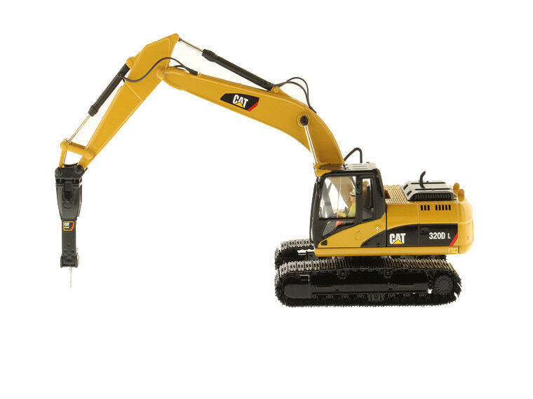 1/50 Classics 85280 Toys Caterpillar 320D L Hydraulic Excavator with Hammer-Core