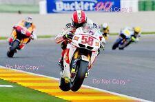 Marco Simoncelli San Carlo Honda Gresini Moto GP Valencia 2010 Photograph 2