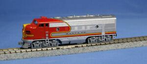 KATO-1762121-N-Scale-EMD-F7A-Santa-Fe-Warbonnet-301-176-2121-NEW