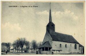 DHUIZON-1910-20-CPA-Frankreich-Eglise-et-la-Place-Strassen-Partie-an-der-Kirche