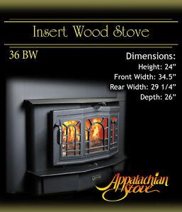 appalachian 36 bw insert wood stove fireplace new ebay rh ebay com appalachian stove fireplace insert manual appalachian fireplace insert manual