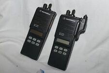 Lot 2 Motorola Mts2000 800mhz Model Iii Portable Two Way Radio H01ucf6pw1bn