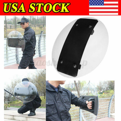 3mm Transparent PC Hand-held Police Anti-Riot Shield For Protection Security CS