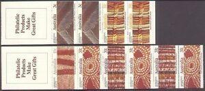 Australia-1987-ABORIGINAL-ART-BOOKLETS-2-Unhinged-Mint-SG-1093-7