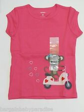 Carter's Girls Pink Moped Mouse Short Sleeve Shirt Top 2T NWT