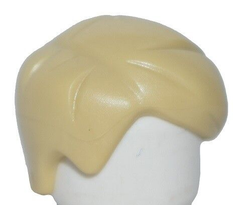 ☀️NEW Lego Minifig Hair Male Boy Tan Short and Plain Combed Sideways Part Right