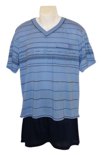 Herren Schlafanzug Shortyin blau  Größenauswahl M KH-69 XXXL  No