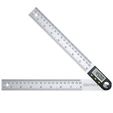 Neoteck 360 Digital Protractor 8 In Stainless Steel Angle Finder Ruler 0 200mm
