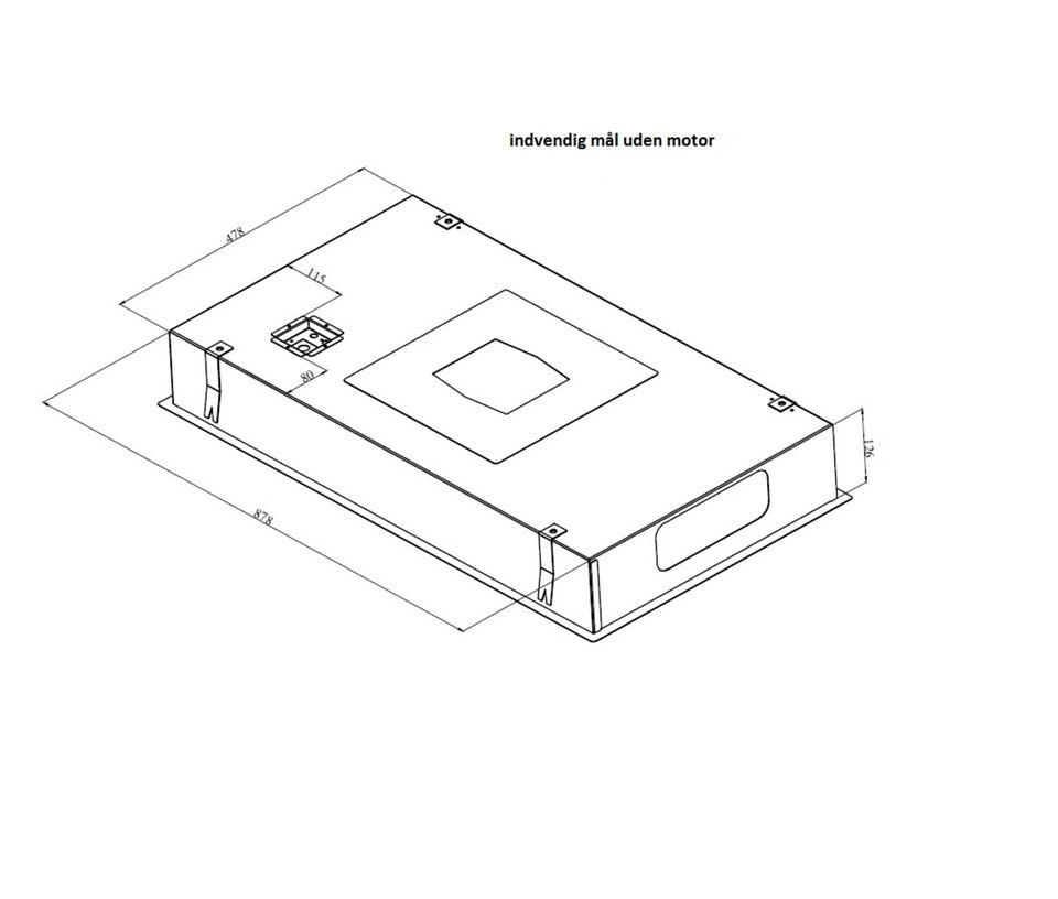 Loftintegreret emhætte inkl. motor