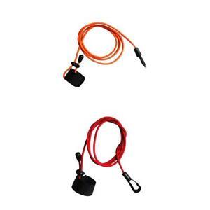 elastic rubber bungee cord fishing rod// kayak paddle leash with snap hook UK