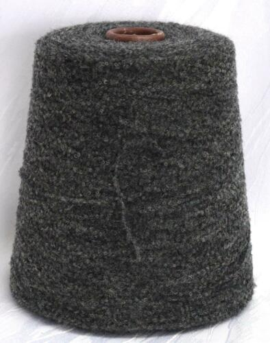teer 72/% feine Merino 24 EUR //Kg Boucle Effekt Wolle grau Lineapiu LL 425m