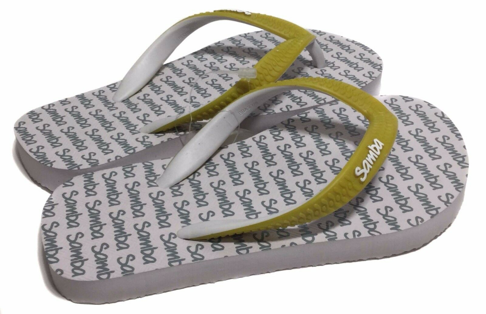 NWT Samba Sol Child's Collection Flip Flops White Solid, 29/0 Size US 11/1 Euro 29/0 Solid, 5013f2
