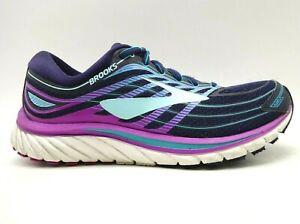 Brooks-Glycerin-15-Navy-Blue-Purple-Mesh-Athletic-Running-Shoes-Women-039-s-8-5-B