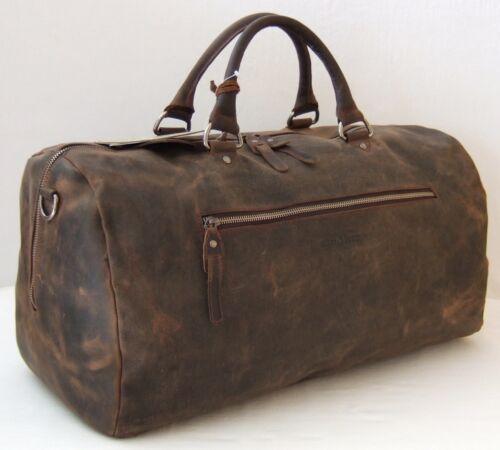 GreenBurry Reisetasche Large 52*25*25 cm Rind-Leder Sport-Tasche Weekender 1961