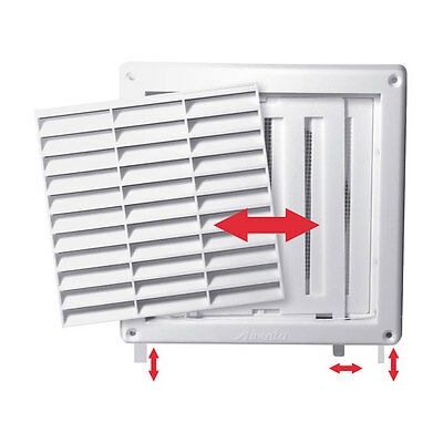 Air Vent Grille 140x140 with Shutter Ventilation Cover Wall Grille 140mm 100mm