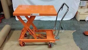 Two Hydraulic Scissor Lift Table Work Shop Cart 1000lb