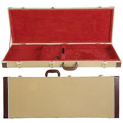 guitar hard case wooden hard shell carrying case lockable square ebay. Black Bedroom Furniture Sets. Home Design Ideas