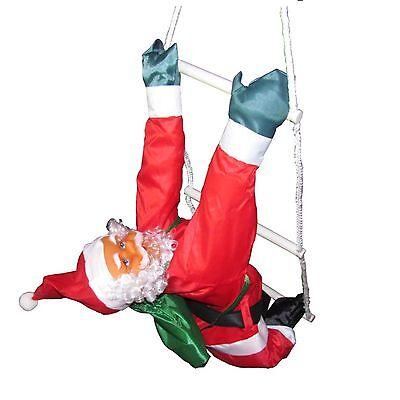 Großer Weihnachtsmann Nikolaus auf Leiter 50/75 cm
