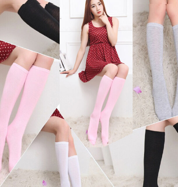 Women Girl Varicose Vein Stocking Running Stretch Sports Elastic Knee High Socks