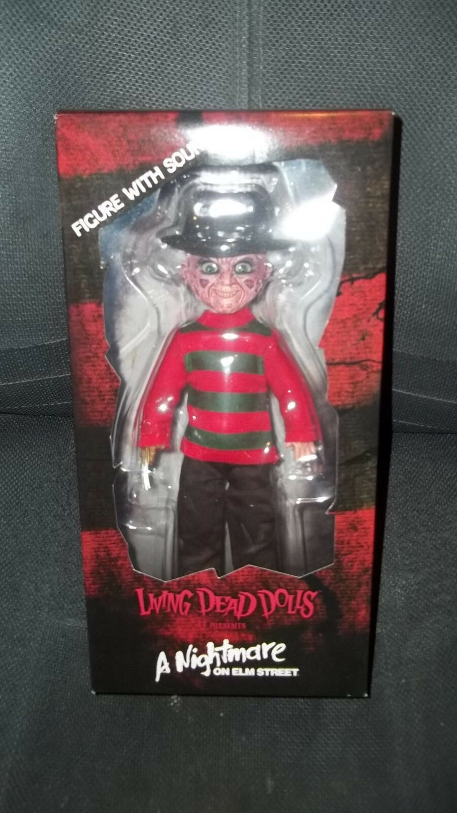 Mezco Living Dead Dolls Nightmare on Elm Street Freddy Doll Unopened with Sound