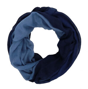 Ella Jonte Loop blau verlaufend Viskoser breiter weich  Damenschal Schal neu