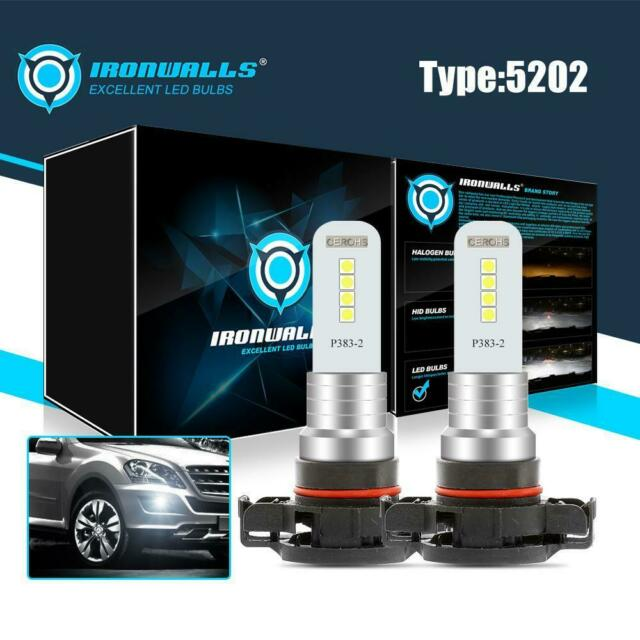 2X 5202 LED Fog Driving Light Bulb For GMC Acadia 2007