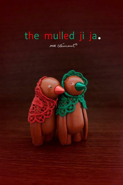 SET OF OF OF 2 THE MULLED JI JA BIRD A MR CLEMENT DESIGNER ART TOY FIGURE 4e8ff9