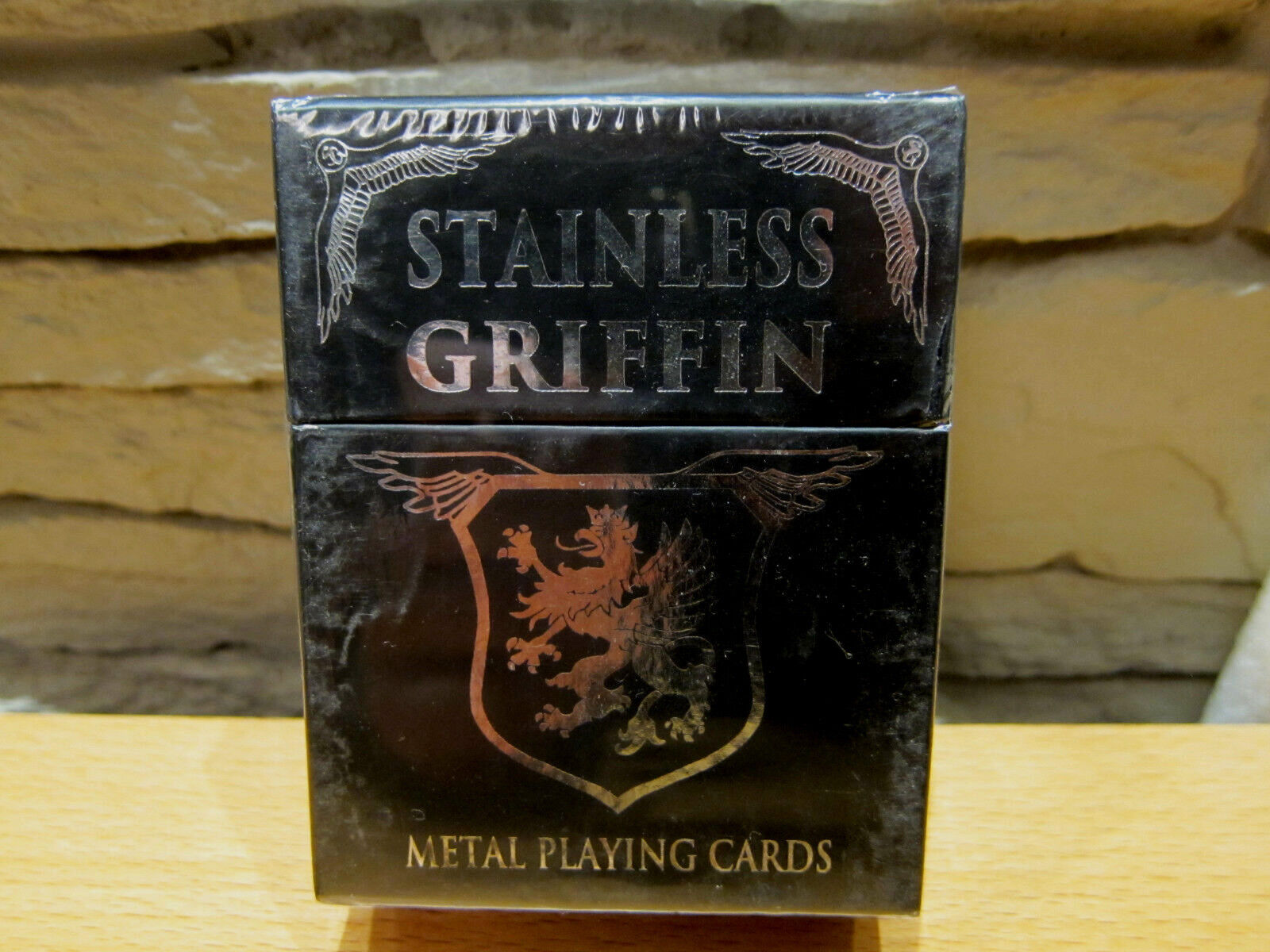 Stainless Stainless Stainless Griffin Metal Playing Cards cae2ff