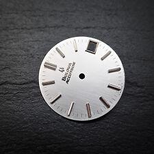 Bulova Accutron NOS Dial Silver 2181 218D Date 218 Caliber SWISS MADE Parts VTG