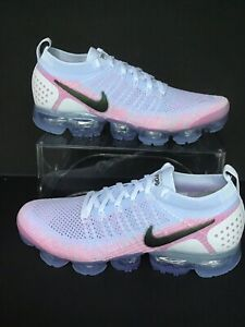 low priced 7f05e 2f2d1 Details about NIKE AIR VAPORMAX FLYKNIT 2 WHITE-BLACK-HYDROGEN BLUE-PINK SZ  10.5 (942842-102)