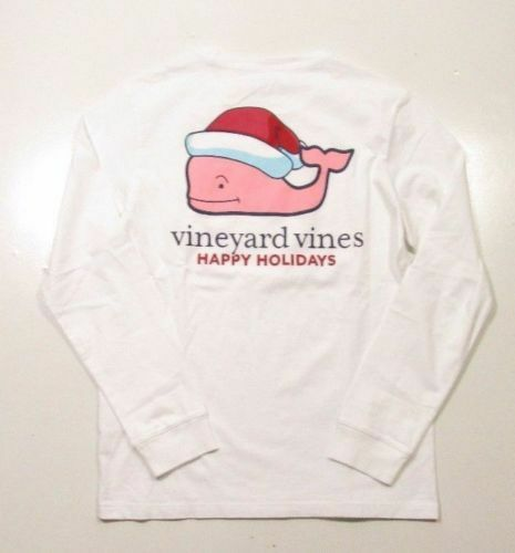NWT  Vineyard Vines Men´s LongSleeve Happy Holidays Whale Tee XS-S-M-L-XL-XXL
