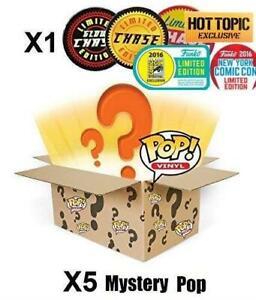 Funko Pop Vinyl 6 Figure Boîte de mystère aléatoire comprenant une poursuite ou exclusive.