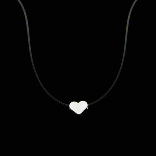 Transparent Necklace Invisible Chain Necklace Women Rhinestone Choker Collier