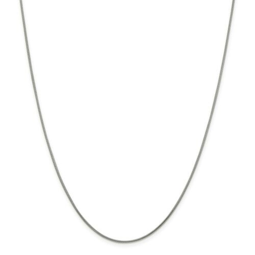 """Details about  /Sterling Silver Solid 1.2mm Round Snake Chain w// Lobster Clasp 16/"""" 30/"""""""