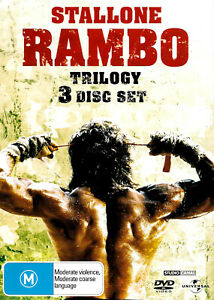 RAMBO TRILOGY - 3 DISC SET - Rare DVD Aus Stock -Excellent