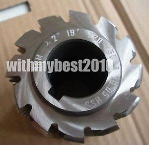 HSS Roller Chain Sprocket Gear Cutter 12.7×8.51 Cutting Range 18-34 teeth 4#