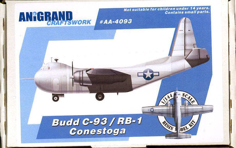 Anigrand Models 1 144 BUDD C-93 RB-1 CONESTOGA U.S. Navy Transport
