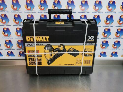 DeWalt DCN694P2 18V XR Li-Ion Metal Connector Nailer 2 x 5.0ah Kit M